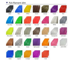 plastic printers NZ - High quality DIY 3D Printer Drawing Pen ABS PLA Filament 10M 20 Colors 1.75MM Colorful Supplies Plastic Rubber Consumables