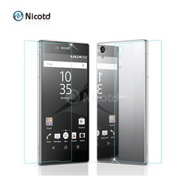 Sony xperia z compact online shopping - 2Pc MM Front Back Tempered Glass For Sony Xperia M4 aqua M5 Screen Protector Film For Sony Z3 Compact Z5 Z2 Z1 Z Compact