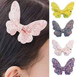 Baby Sequin Hair Clips Wholesale Australia - Baby Girls Hair Accessories Sequins Butterfly Barrettes Glitter Stars Clip Pin Kids Children Hairpin For Kids Christmas