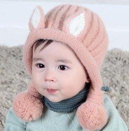 Baby Crochet Rabbit NZ - Newborn warm bunny rabbit ears hat baby month Photograph prop winter ear protection infant beanies crochet bunny cap