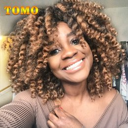 $enCountryForm.capitalKeyWord NZ - TOMO Jumby Wand Curl Crochet Twist Hair Extensions 8Inch Short Jamaica Bounce Curl Low Temperature Fiber Black Woman Synthetic Braiding Hair