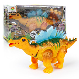toy walking dinosaurs 2019 - Children Miniatures Toys Electric Artificial Sound Dinosaur With Light Projection Walk And Lay Eggs Toy Gift 24 9bb W