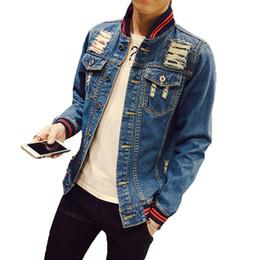 5f78ec15ac860 New 2018 Men s Jeans Jacket Coat Ripped Casual Denim Bomber Jacket Men  Autumn Winter Slim Fit Windbreaker Male Jean Jackets 5XL D18101007