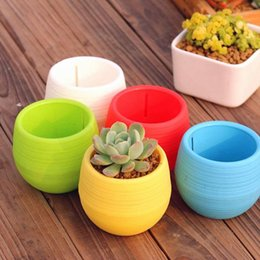 Wholesale Gardening Flower Pots Small Mini Colorful Plastic Nursery Flower Planter Pots Garden Deco Gardening Tool Fast Delivery