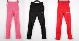 Venta al por mayor de Palm Angels Pantalones Mujer Hombre Joggers de alta calidad Streetwear Rainbow Exclusivo con cordón Pantalones de chándal Pantalones
