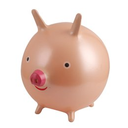 Chinese  Outdoors Children Inflatable Toys Mould Proof Piglet Shape Balance Ball Eco Friendly Anti Wear Creative Jump Toy With Multi Color 10tx jj manufacturers