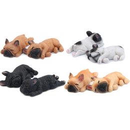 Small Magnets Wholesale UK - 1PCS Cute Small Sleeping Bulldog Model Cartoon Animal Fridge Dog Refrigerator Magnetic Sticker Decals Fridge Magnets