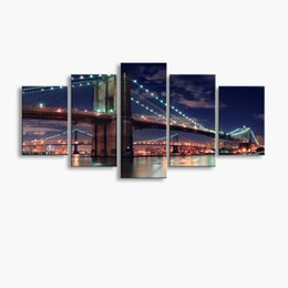 Art Canvas Prints Australia - 5 pieces high-definition print Bridge canvas oil painting poster and wall art living room picture PF5-241