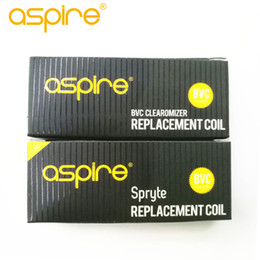 Wholesale Authentic Aspire BVC Coils 1.8ohm& Aspire Spryte BVC Coil 1.2ohm for spryte kit ecigarette replacement atomizer