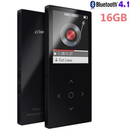 touch screen music player 2019 - Wholesale-Bluetooth 4.1 MP3 Player 16GB Touch Color Screen Ultra Thin Lossless HIFI Sound Music Player 1.8 Inch with FM