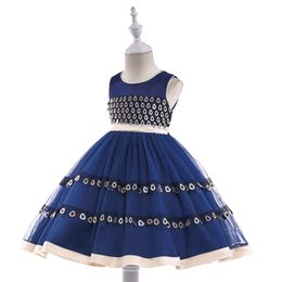 $enCountryForm.capitalKeyWord UK - Girls peacock children's wedding princess sequins flower girl dress skirt
