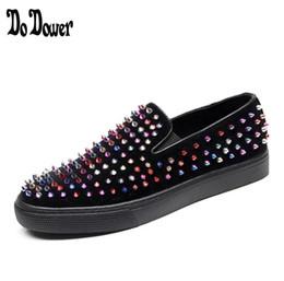 65d6d07173c4 Gold Glitter Shoes Men Fashion Skewers Moccasins Slip On Shoes Sizes Large  Picks Rivet Moccasins Men Shoes Flat Loafer size 38-44 BMM58