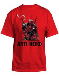 571401cb5 2017 Fashion Brand Men's T shirt Deadpool Anti-Hero Red Mens Fashion  Novelty Short Sleeve Tee Tops Clothes