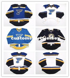 $enCountryForm.capitalKeyWord Australia - Cheap wholesale custom ST. LOUIS BLUES HOME AWAY THIRD JERSEY GOALIE CUT 58 ISSUED Mens Stitched Personalized hockey Jerseys