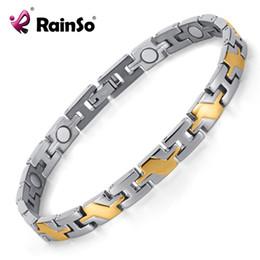$enCountryForm.capitalKeyWord NZ - Healing Magnetic Bracelet Men Woman Titanium Magnetic Bracelet Titanium With Magnets In IP Gold Plating OTB-124SG