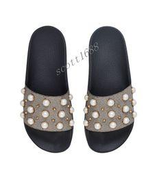 09045997208a1 mens womens fashion Pearly Embellished slides slide sandals boys girls summer  outdoor beach causal Slip-on flip flops