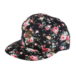 33834c4ad92 High Quality Women summer caps Embroidered Floral Flower Snapback flat hip  hop caps Adjustable Baseball gorras summer hats