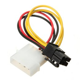 Discount desktops prices - New Arrival 17.5cm 4 Pin to 6 Pin PCI-Express PCIE Video Card Power Converter Adapter Cable Lowest Price Power Adapter C