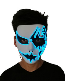 Chinese  Scary Masks Halloween New El Cold Light Line Ghost Purge Mask Hand Painted Led Dance Party Halloween Cosplay Masquerade Street 31yc gg manufacturers