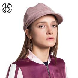 134461a2514 FS Women Winter Felt Berets Hat Elegant Casquette Cap Female Retro Newsboy  Caps French Artist Boina Mujer Chapeu Feminino