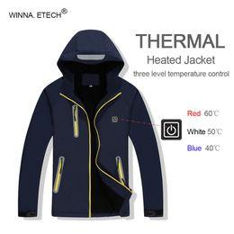 $enCountryForm.capitalKeyWord NZ - High Quality Men Women Winter Thermal USB Heating Jacket Outdoor Waterproof Windbreaker Hiking Camping Trekking Climbing Coat