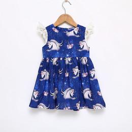 $enCountryForm.capitalKeyWord UK - Vieeoease Girls Dress Unicorn Kids Clothing 2018 Summer Fashion Sleeveless Vest Lace Tutu Princess Party Dress EE-621