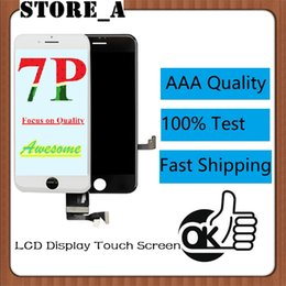 iphone screen glue NZ - High Quality for iPhone 7 Plus LCD Display Touch Digitizer Screen with Cold Glue Frame Full Assembly 5.5inch 3D Touch Function