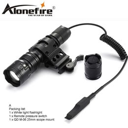 Flash Drive Switch Australia - AloneFire TK104 XM-L2 led waterproof flashlights 5 modes tactic lintern flash light with remote pressure pad switch for Tactecal lighting