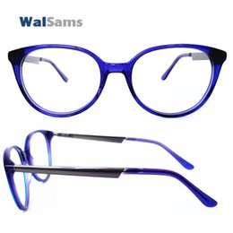 Wholesale Round Acetate Optical Frame with Clear Lens Handmade Eyeglasses Frame Glasses with Case Flexible Eyewear for Young Style Sams03