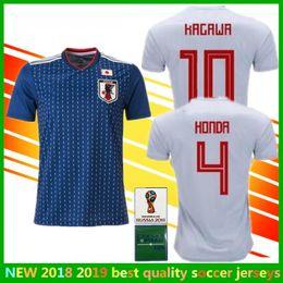 World Cup Japan Soccer jersey 2018 KAGAWA maillot Home blue Away white  OKAZAKI HASEBE NAGATOMO HARAGUCHI KIYOTAKE HONDA Football Shirt 3d4b3f1a8