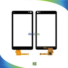 Touch Screen N8 NZ - 3.5'' New N8 Touch Screen for N8 Touch Digitizer Sensor Front Glass Panel Lens Black Phone Parts