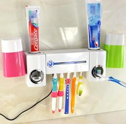 Высокое качество УФ зубная щетка очиститель дезинфицирующее стерилизатор держатель автоматическая зубная паста диспенсер соковыжималка устройство коробка уход за полостью рта с 2 чашки