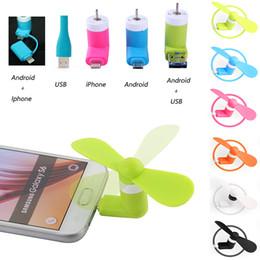 Freies DHL-Mini-kühler Mikro-USB-Ventilator-Handy USB-Gerät-Ventilator-Prüfvorrichtung Handy Für Typ-c i5 Samsung s7 Rand s8 plus