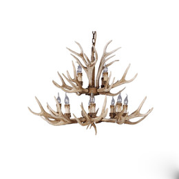 antlers light UK - Antler chandelier E14 3 6 8 12 heads creative art hotel villa bedroom retro restaurant living room garden bar Home lighing G190