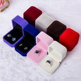 Ring Case Holder Displays Australia - Fashion (Black Red White Grey Blue) Gift Box for Ring Earring Case Holder Jewelry Box, Display Packaging Boxes