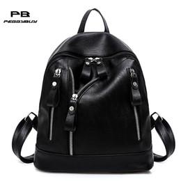 $enCountryForm.capitalKeyWord Canada - PU Leather Unisex Waterproof Backpac Korean Casual Zipper Women Men School Bag Mini Travel Bags Luggage for Teenager Girls Boys
