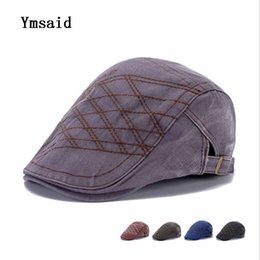 f016b3ed 2017 Retro Berets Caps For Men Cotton Hats Casual Visors Peaked Cap Gorras  Planas Flat Caps Adjustable Men's Berets Boina Bone