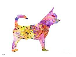 -chihuahua - ART-Unframed Современное искусство холста для дома и офиса Украшение, живопись, живопись животных, рамочная роспись