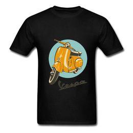 Großhandel Weinlese-Vespa-3D-Cambrennen-Marca-Roller-Vespa-Manga-Corta Camiseta la-Motocicleta adolescente Juventud-Camiseta