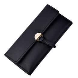 Chinese  Fashion Women Wallet Carteira New Design Casual Solid Color Fashion Artificial Leather Leisure Clutch Handbag Long Purse manufacturers