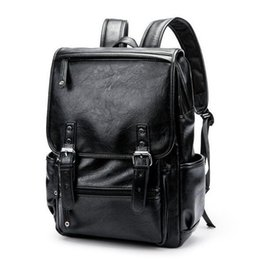 high quality backpack brands Australia - wholesale brand mens bag brief belt decoration men's backpack college wind leather backpack high quality leather outdoor travel backpac