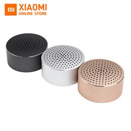 Discount xiaomi mini square box bluetooth speaker Original Portable Xiaomi Bluetooth Mini Speaker Wireless Bluetooth 4.0 Stereo Handsfree Music Square Box Support redmi 4
