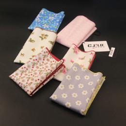 $enCountryForm.capitalKeyWord Australia - New Korean Fashion Designer High Quality Mens Print Floral Handkerchiefs For Wedding Cotton 10pcs  Lot 24x24cm