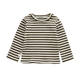 Toddler coTTon TshirTs online shopping - Baby Boy Shirt Clothing Toddler Infant Casual Striped Shirts Baby Girls Tops Tees Cotton long sleeve tshirts