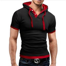 Vente en gros Nouveaux hommes tshirt à capuche tees vente chaude d'été design cool t -shirt homme fitness mode marque vêtements mâle t shirt