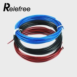 Wholesale Relefree Spare Rope m Crossfit Replaceable Wire Cable Speed Jump Ropes Skipping Rope Color Red Blue and Black steel wire