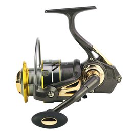 gear spin UK - High Speed Ratio 6.3:1 Fishing Reels Light Hollowed Gear Spinning Reel Water Drop Line Proof Wire Cup Metal Rocker Arm
