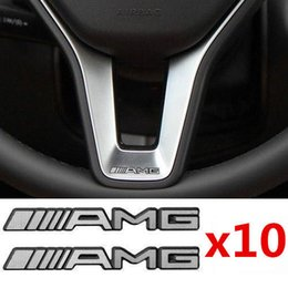 $enCountryForm.capitalKeyWord UK - 10Pcs Alloy ALUMINIUM AMG Steering Wheel Sticker Badge Logo Emblem S66 Free shipping