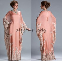 $enCountryForm.capitalKeyWord NZ - 2018 Cheap Evening Gowns Chiffon Kaftan Dubai Arabian Dress Lace Long Sleeves Fitted Muslim peach prom gowns Plus Size
