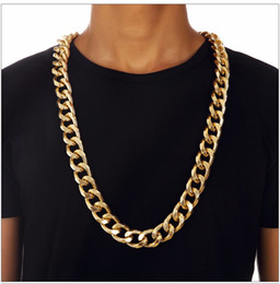 Silver Rolled Chain NZ - Fashion Collar Punk Rock and Roll Gear Chain Swag Necklaces for Men Club Gold Jewelry Bboy Rap Hip Hop Necklace